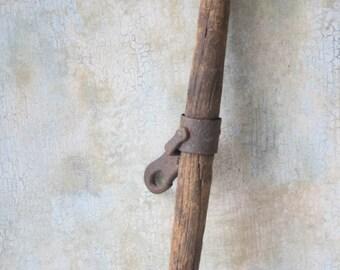 Antique Primitive Wooden Yoke, Wood Farm Tool, Rustic Farmhouse Decor, Barn Decor, Vintage Barn Ox Yoke, Rustic Chic