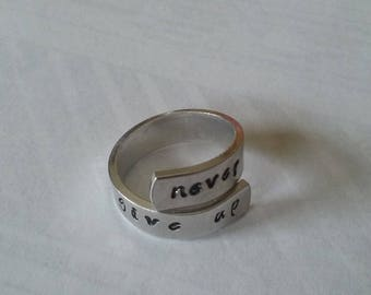 Motivational Never Give Up Wrap Ring