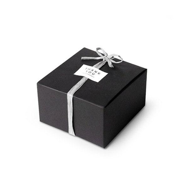 5 x gift boxes black mini box size 1 modern boxes for Black box container studios