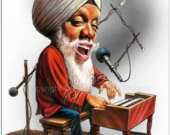 Don Howard's Depiction of Dr. Lonnie Smith Celebrity Caricature