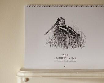 2017 Bird Calendar, Bird Wall Calendar