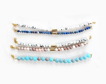 Various gemstone bracelets