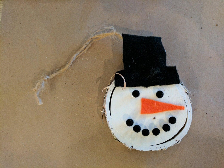 Snowman face ornament - Adorable Snowman Ornament