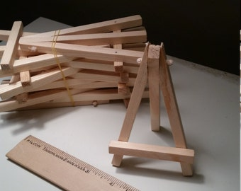 Wooden Easel Bulk, Miniature 5 Inch Natural Wood Display (10 Pack)