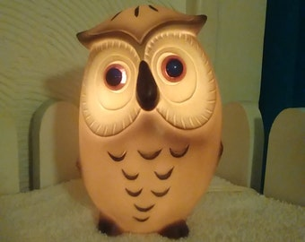 Vintage Josef Originals Owl Night Light Excellent!