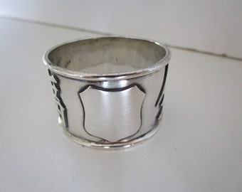 Chinese Export Silver Napkin Ring, Serviette, Maker CC, Circa 1900.