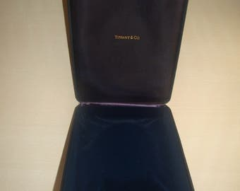Collectible Authentic TIFFANY & CO. Jewelry Necklace Velvet Box / Case