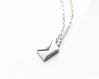 Envelope charm necklace