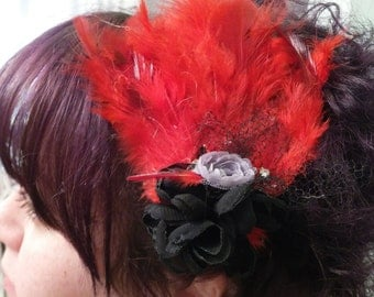Red Feather Hair Accessorie