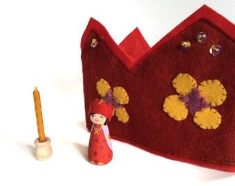 Birthday Crown & Matching Peg Doll