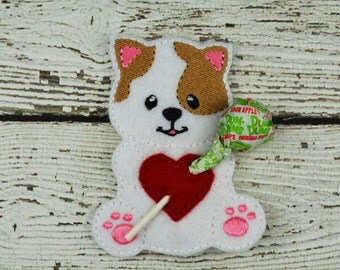 Kitty Sucker Holder - Small Gift - Class Party Gift - Valentine's Day - Lollipop Holder - Party Favor - Thank You Gift - Party Supplies