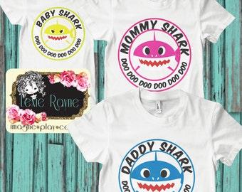 Daddy Shark, Mens Shirt, Mens T Shirt, Papa Bear, Shark Family, Family shirt, T Shirt, Bear family