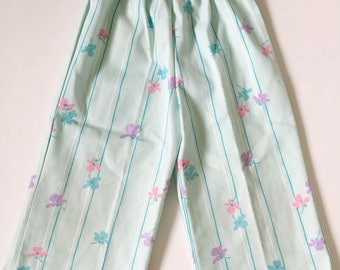 Vintage Floral High Waisted Pants Girls 3T