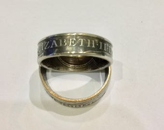 10 Pence Coin Ring