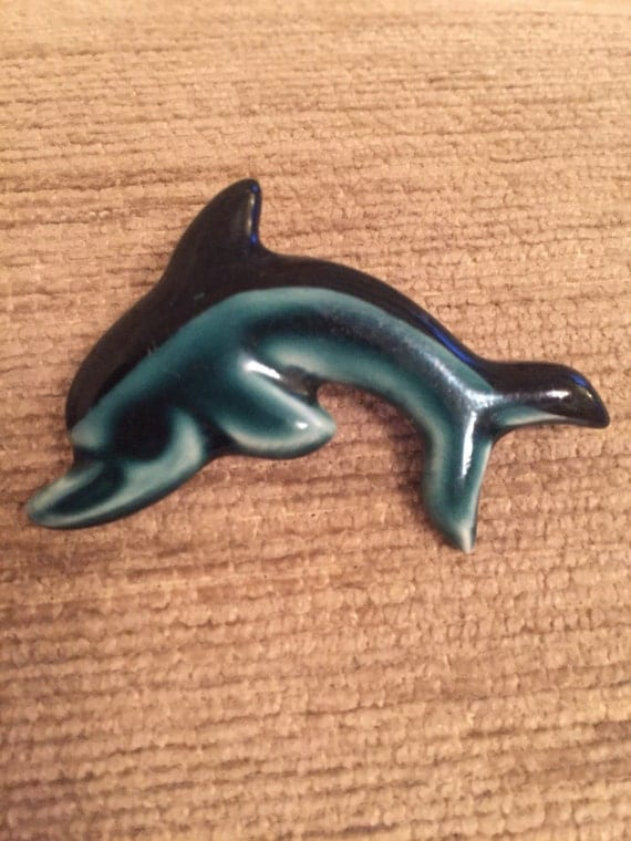 Wade style dolphin brooch