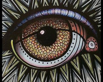"Spikey Mandala! - Abstract Painting 12""×12"" Original painting!!"