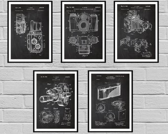 Camera patent poster camera patent camera print camera art camera patent set of 5 vintage camera patent vintage camera print vintage camera malvernweather Gallery