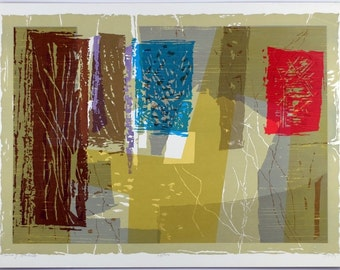 "Seong Moy, ""Count of Solitude"" Chinese-American Modern Abstract Silkscreen, Title: ""Count of Solitude"", 25/300"