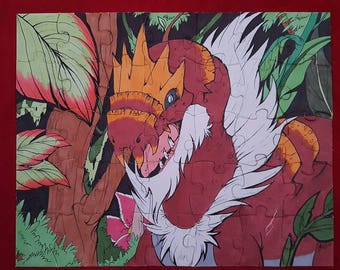 35 Piece Tyrantrum Puzzle Set