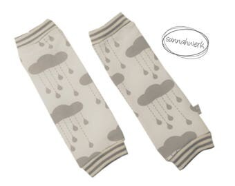 """Leg warmers """"Clouds"""" for carrying children, / to warm gray beige stripes baby newborn drops of rain clouds"""