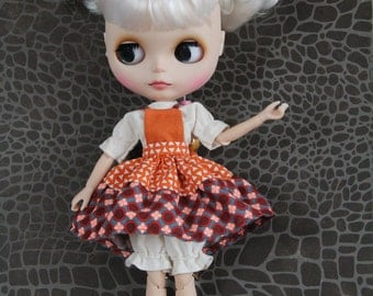 Garment/shirt/dress/panties for dolls/Blythe, Tangkou, Pullip, Licca, Momoko