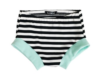 Striped Shorties - Bummies - Baby shorts - Toddler shorts - Baby girl shorts - Baby boy shorts - Baby bloomers - Baby clothes