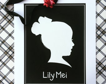 "Custom Silhouette Art on Canvas Board 11"" x 14"""
