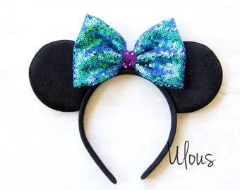 Ariel Mickey Ears, Little Mermaid Mickey Ears, Ariel Minnie Ears, Little Mermaid Ears, Ariel Disney Ears, Ariel Ears, Disney Ears, Ariel