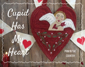 Cupid Has My Heart Punch Needle Pattern