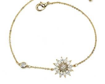 Delicate crystal sun bracelet
