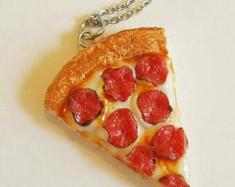 Pepperoni Pizza Slice Necklace