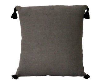 """Coussin lin gris anthracite """"Iza"""""""