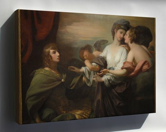 Canvas 24x36; Helen Brought To Paris, 1776, By Benjamin West Saam Dsc00875