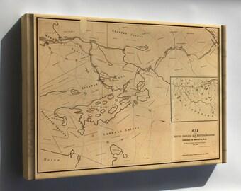 Canvas 24x36; Map Of Boston Concord Railroad New Hampshire 1845
