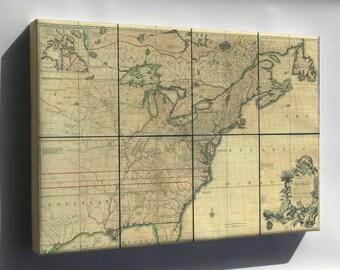 Canvas 24x36; Map Of North America Pre United States 1755 P4