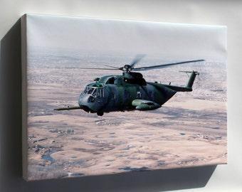 Canvas 24x36; Usaf Hh-3E Jolly Green Giant