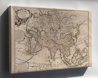 Canvas 16x24; Map Of Asia 1700 In French P2