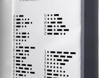 Canvas 16x24; International Morse Code Chart