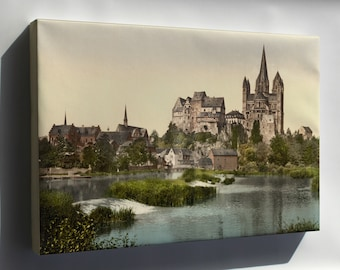 Canvas 16x24; Castle And Cathedral, Limburg, Hesse-Nassau, Germany 1890