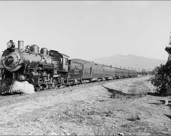 16x24 Poster; Atchison, Topeka & Santa Fe Railroad Deluxe Overland Limited Train 1910S