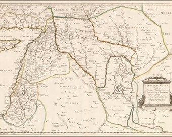 16x24 Poster; Map Of Israel Mesopotamia Babylon 1651