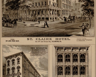 16x24 Poster; St. Claire Hotel Richmond Virginia 1877