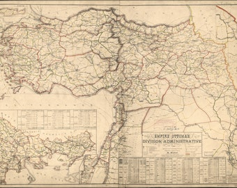 16x24 Poster; Map Of Ottoman Empire Admin Divisions 1899