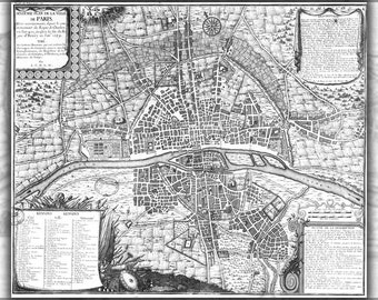 16x24 Poster; Map Of Paris France From 1422 To 1589
