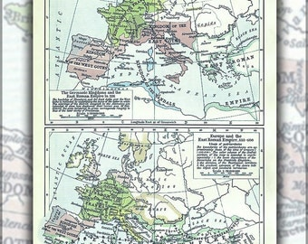 16x24 Poster; Political Map Of Europe, Situation As Of C. 526-600