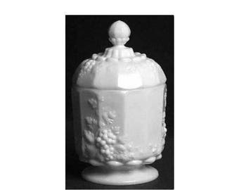 Westmoreland Paneled Grape Milk Glass,Paneled Grape,Westmoreland,Milk Glass Sugar Bowl,Milk Glass Jar,Paneled Grape Compote,Milk Glass,Grape
