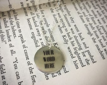 Customizable Hand Stamped Necklace