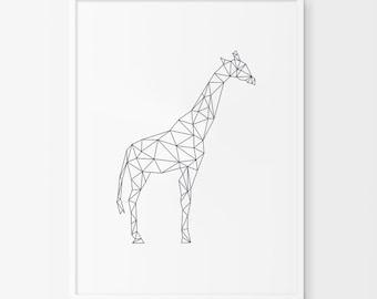 Geometric giraffe | Etsy