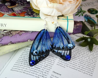 NEW Cornflower Blue Flower Fairy Wing/ Butterfly Wing Earrings