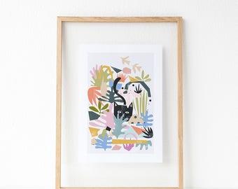Catisse's Garden Print